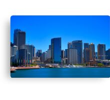 Smooth Sailing - Circular Quay - Sydney Harbour - Australia Canvas Print
