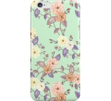 Roses Peach Iced Mint iPhone Case/Skin