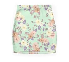 Roses Peach Iced Mint Mini Skirt