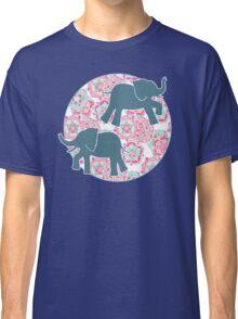 Tiny Elephants in Fields of Flowers Classic T-Shirt
