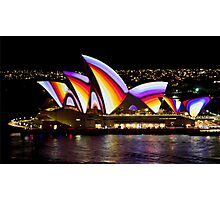 Psychedelic Sails - Sydney Vivid Festival - Sydney Opera House Photographic Print