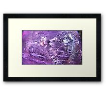 The purple Planet Framed Print