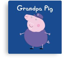 Grandpa Pig Canvas Print