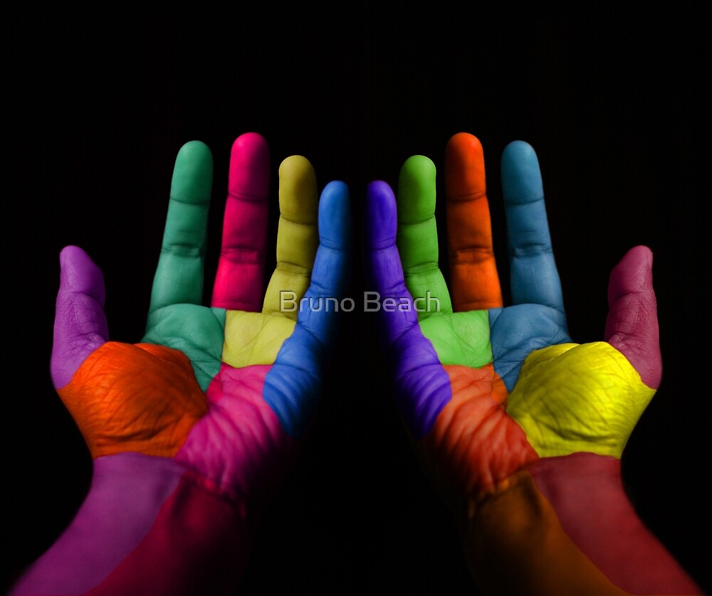 Colorful Hands by Atanas NASKO