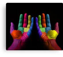 Colorful Hands Canvas Print