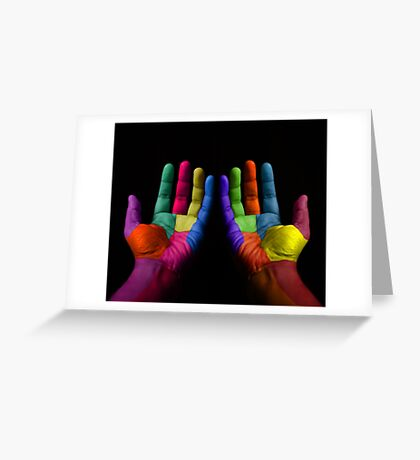 Colorful Hands Greeting Card