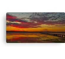 Long Jetty On Fire | New South Wales | Australia Canvas Print