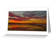 Long Jetty On Fire | New South Wales | Australia Greeting Card