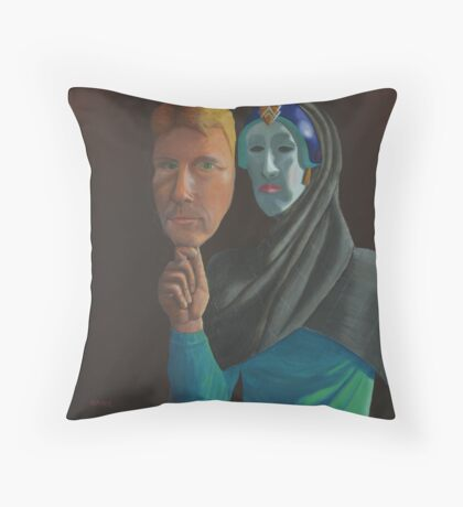 Mask of Reality Throw Pillow