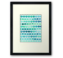 Ocean Rhythms and Mermaids Tails Framed Print