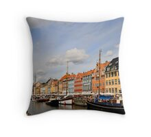 Nyhavn, Copenhagen Throw Pillow