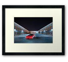 NSX at Night Framed Print