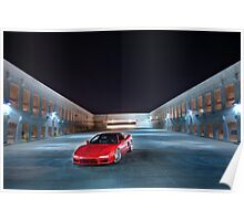 NSX at Night Poster
