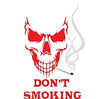 Smoking Skull T-Shirts Photographic Print