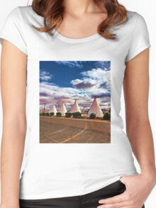 Route 66 Wigwam Motel Women's Fitted Scoop T-Shirt