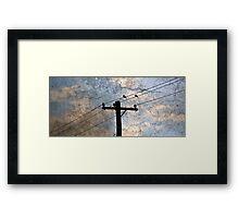 Broken Skies Framed Print