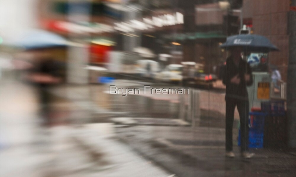 The Man Under The Umbrella - Sydney - Australia by Bryan Freeman