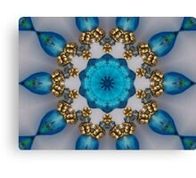 Blue and Gold Kaleidoscope Canvas Print