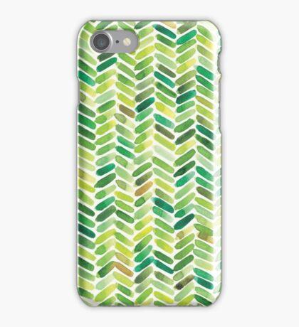 Watercolour Herringbone iPhone Case/Skin