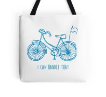 Hipster bicycle - blue Tote Bag