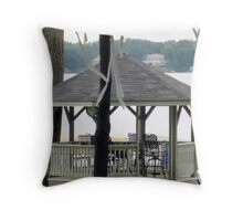 Come sit for a spell and enjoy the view! Throw Pillow