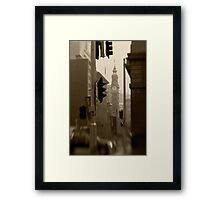 General Post Office Clock Tower - Sydney - Australia Framed Print