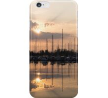 Heavenly Sunrays - Peaches-and-Cream Sunrise with Yachts iPhone Case/Skin