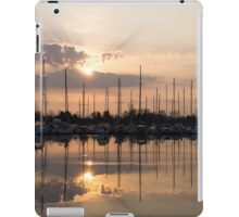 Heavenly Sunrays - Peaches-and-Cream Sunrise with Yachts iPad Case/Skin