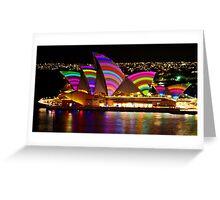 Crochet Sails - Sydney Vivid Festival - Sydney Opera House Greeting Card