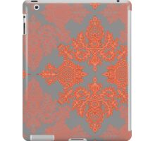 Burnt Orange, Coral & Grey doodle pattern iPad Case/Skin