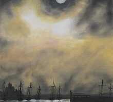Oil Painting - Emeryville Marina I, 2008 by Igor Pozdnyakov