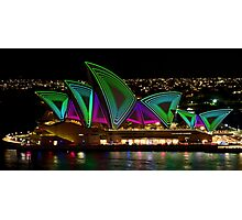 Time Tunnel Sails - Sydney Vivid Festival - Sydney Opera House Photographic Print