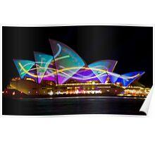 Sail Streamers - Sydney Vivid Festival - Sydney Opera House Poster