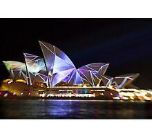 Fractured Sails - Sydney Vivid Festival - Sydney Opera House Photographic Print