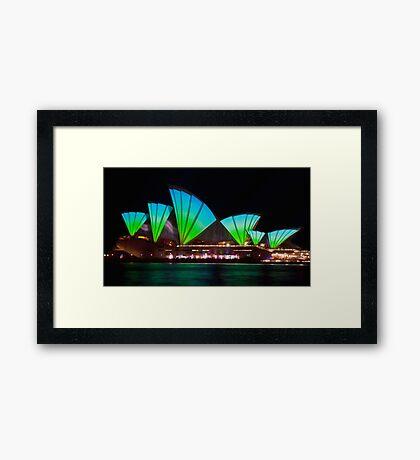 Splice Sails - Sydney Vivid Festival - Sydney Opera House Framed Print