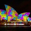 Dress Sails - Sydney Vivid Festival - Sydney Opera House by Bryan Freeman