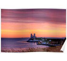 Sunrise over reculver Poster