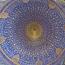 Inside The Dome of Imam Mosque - Isfahan - Iran by Bryan Freeman