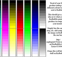 Redbubble printer color test by nightspirit174