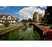 Westgate, medieval gatehouse in Canterbury, Kent Photographic Print