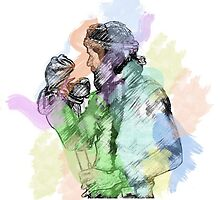 Jim Henson and Kermit - Colour splash by saskiamunden