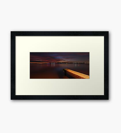 Applecross Jetty At Dusk  Framed Print