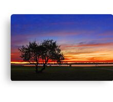 Tree At Dusk  Canvas Print