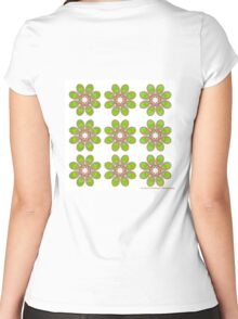 Sour Apple Foot Flowers Women's Fitted Scoop T-Shirt