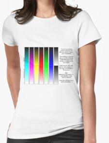 Redbubble printer color test Womens Fitted T-Shirt