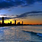 Burleigh Heads at sunset by Richard Majlinder