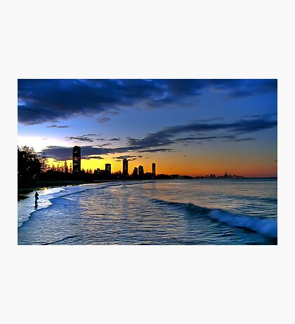 Burleigh Heads at sunset Photographic Print