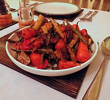 Roast Garden Vegetables with Mustard and Honey by BlueMoonRose