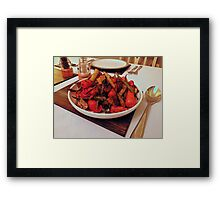 Roast Garden Vegetables with Mustard and Honey Framed Print