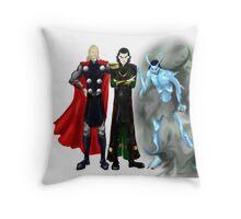 Loki - Shoulder Angel and Shoulder Devil Throw Pillow